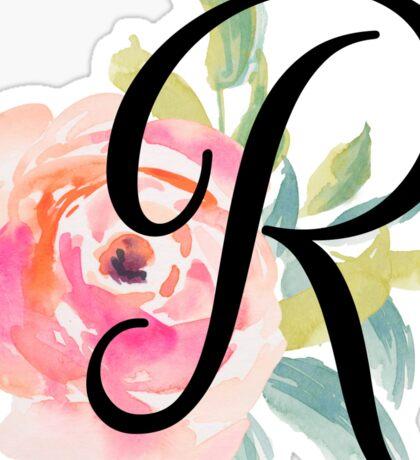 Floral Monogram R Sticker