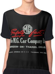 MG Car company Abingdon England Safety Fast Chiffon Top