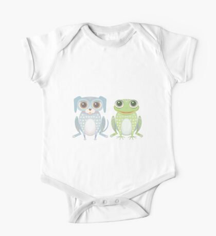 Prince Frog and Lanky Dog One Piece - Short Sleeve