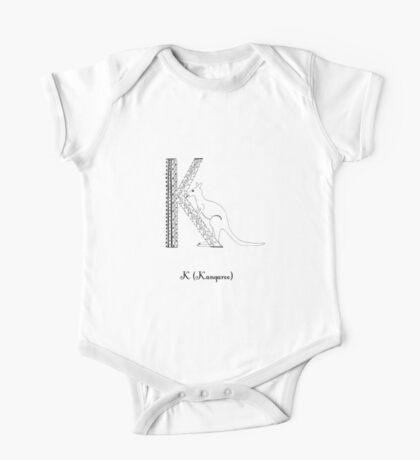 K is for Kangaroo One Piece - Short Sleeve