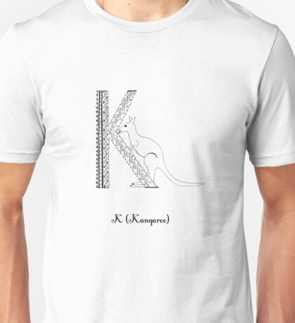 K is for Kangaroo Unisex T-Shirt