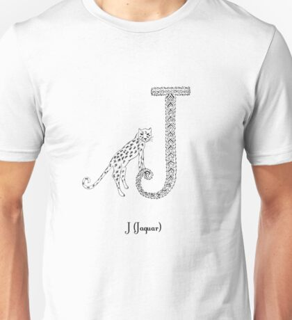 J is for Jaguar Unisex T-Shirt