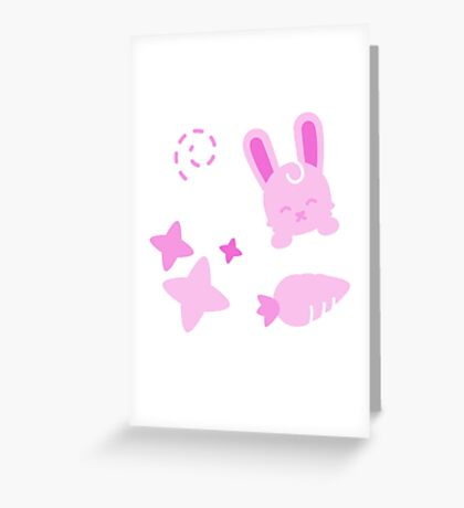 Gangster Bunny, Playful Pattern Greeting Card