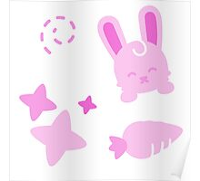 Gangster Bunny, Playful Pattern Poster