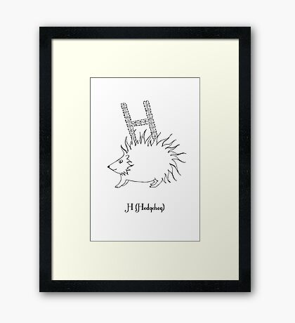 H is for Hedgehog Framed Print
