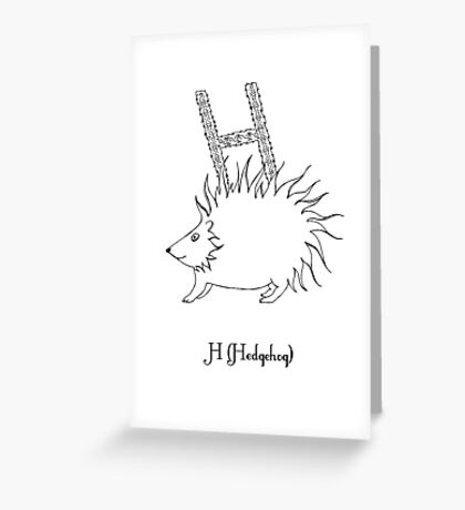 H is for Hedgehog Greeting Card