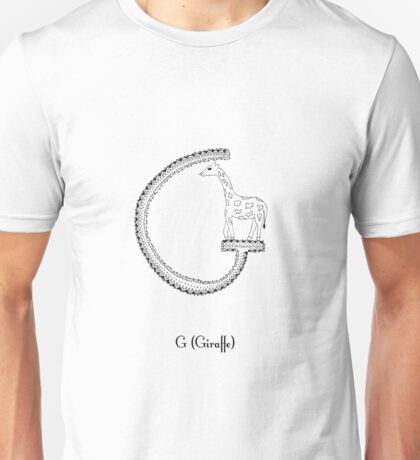 G is for Giraffe Unisex T-Shirt