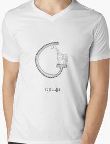 G is for Giraffe Mens V-Neck T-Shirt