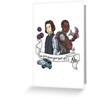 Can you move your seat up? Greeting Card