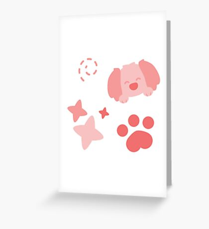 Potato Puppy, Playful Pattern Greeting Card