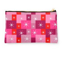 Sparkles on red rectangles Studio Pouch