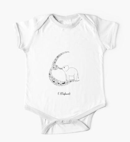 E is for Elephant One Piece - Short Sleeve