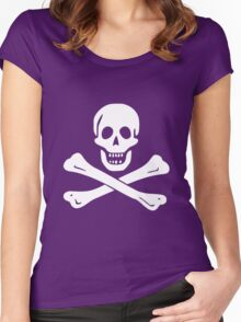 JOLLY ROGER-WHITE Women's Fitted Scoop T-Shirt