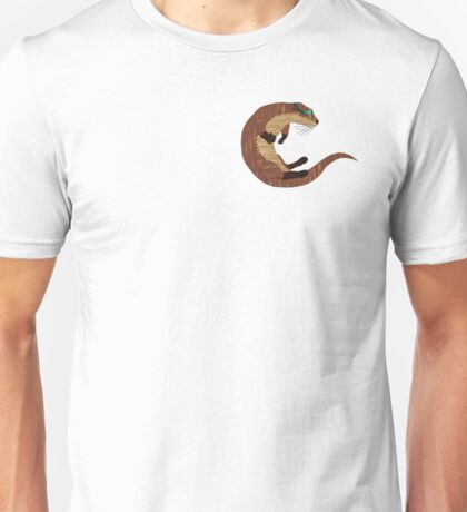 Swimming Otter Isolated Unisex T-Shirt
