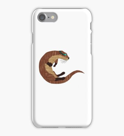 Swimming Otter Isolated iPhone Case/Skin