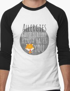 allergies /Agat/ Men's Baseball ¾ T-Shirt
