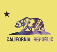 Purple California Bear Flag Nebula Kids Tee