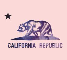 Purple California Bear Flag Nebula Baby Tee