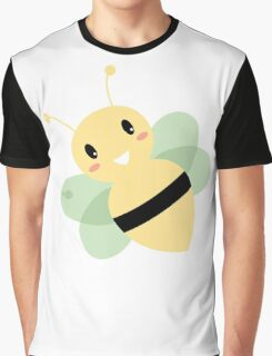 Cute Beautiful Bee isolated on white Graphic T-Shirt