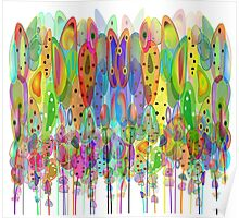 Whimsical Watercolor Flowers Poster