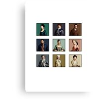 Versailles Character Colour Blocks Canvas Print