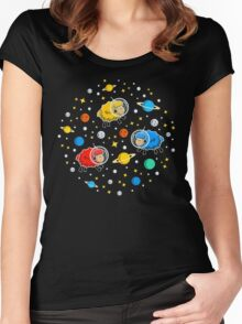Space Sheep Women's Fitted Scoop T-Shirt