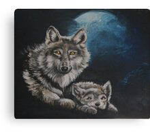 Wolf - Spirit Animal Art Canvas Print