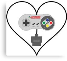 SNES controller love Canvas Print