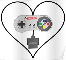 SNES controller love Poster