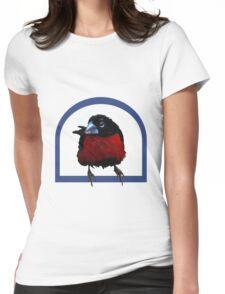 Bird on a perch Womens Fitted T-Shirt