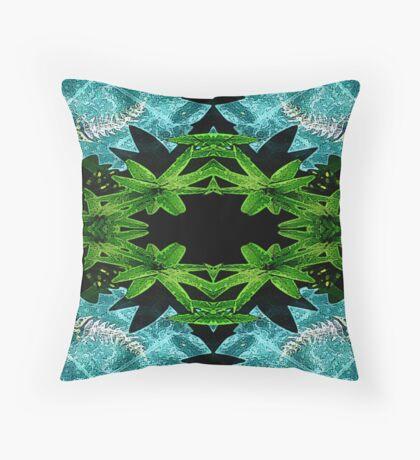 Vivid 2016 Fabrics Skeletal Fish Pond Throw Pillow