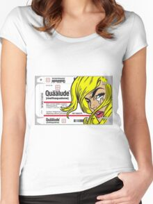 QUAALUDE Women's Fitted Scoop T-Shirt