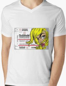 QUAALUDE Mens V-Neck T-Shirt