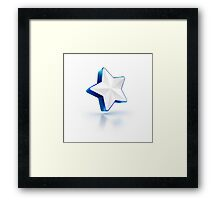 social media like star popular glass shiny icon Framed Print