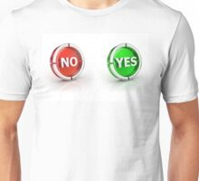 yes or no choice or answer 3D icons Unisex T-Shirt
