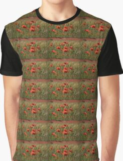 Poppies in a field. Graphic T-Shirt