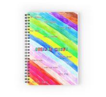 Radiant World  Spiral Notebook
