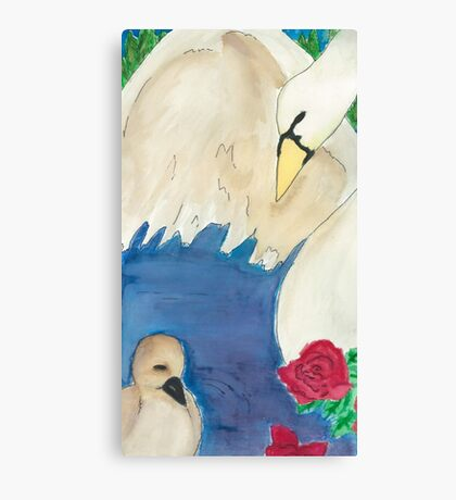 Swan and Cygnet  Canvas Print