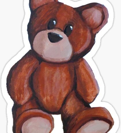 Painted Teddy Sticker