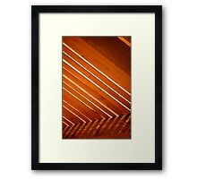 Stripes and Staining Framed Print