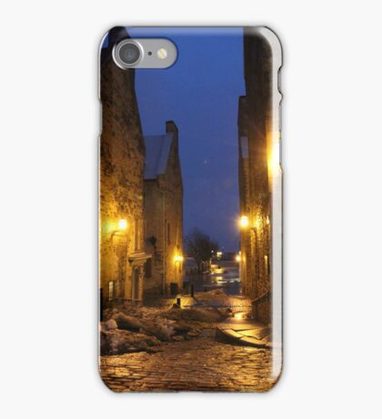 Old Quebec City at Night iPhone Case/Skin