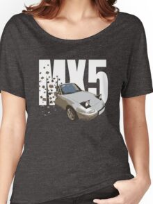 Mazda MX5 Classic Sports Car Women's Relaxed Fit T-Shirt