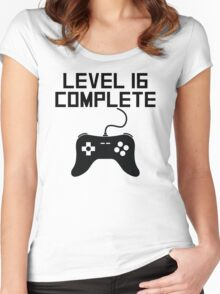Level 16 Complete 16th Birthday Women's Fitted Scoop T-Shirt