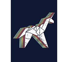 Origami Unicorn (Aged look) Photographic Print