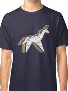Origami Unicorn (Aged look) Classic T-Shirt