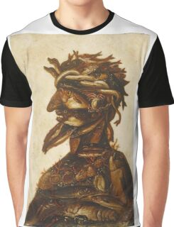 Vintage famous art - Giuseppe Arcimboldi - The Four Elements - Water Graphic T-Shirt