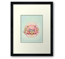 Better Late, Than Ugly - Pastel Goth Girl Framed Print