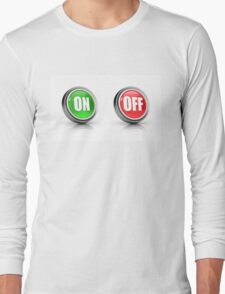 on or off choice or switch 3D icons Long Sleeve T-Shirt