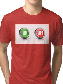 on or off choice or switch 3D icons Tri-blend T-Shirt
