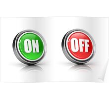 on or off choice or switch 3D icons Poster